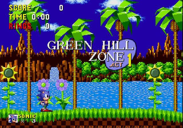 sonic the hedgehog green hill zone 1