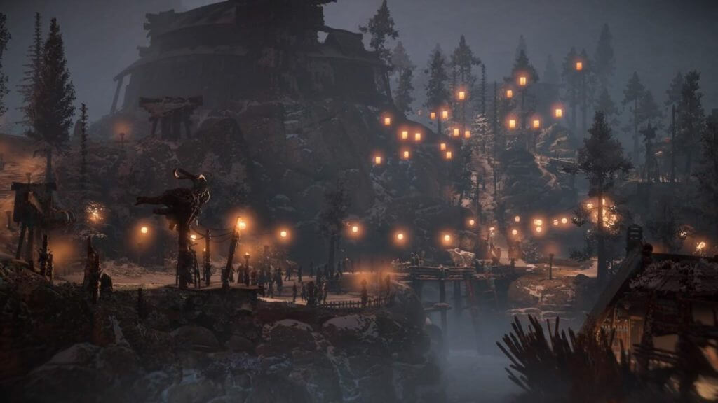 horizon zero dawn flying lantern into the sky