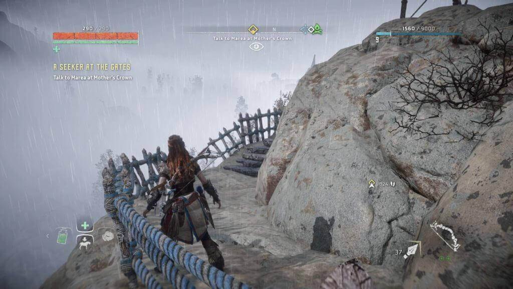 horizon zero dawn gameplay mountain road