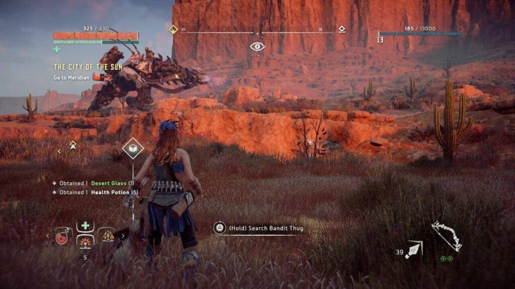 Horizon Zero Dawn the thunderjaw