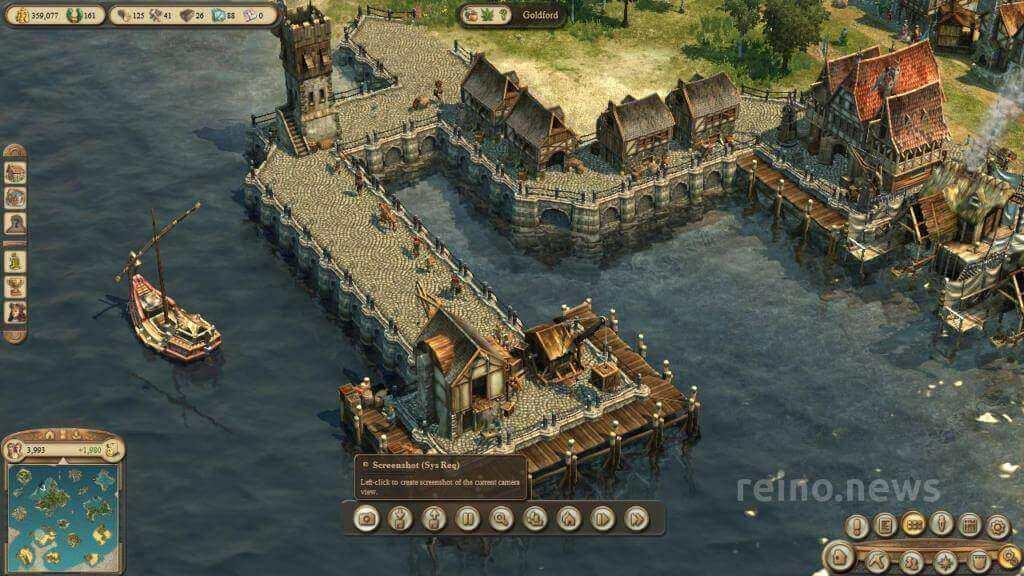 A harbor in Anno 1404