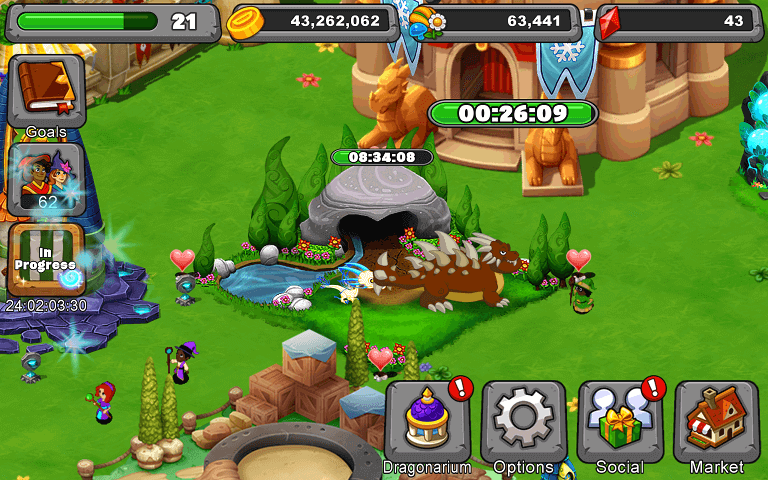 The breeding cave in DragonVale.