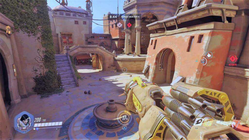 Pharah in map Temple of Anubis