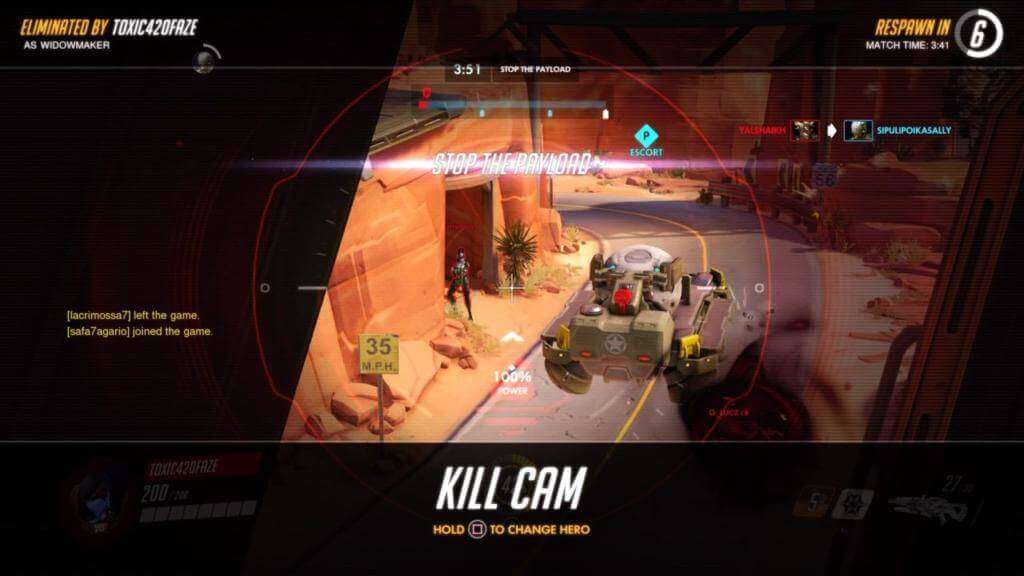 Kill Cam - Replay the Death in Route 66 overwatch gameplay