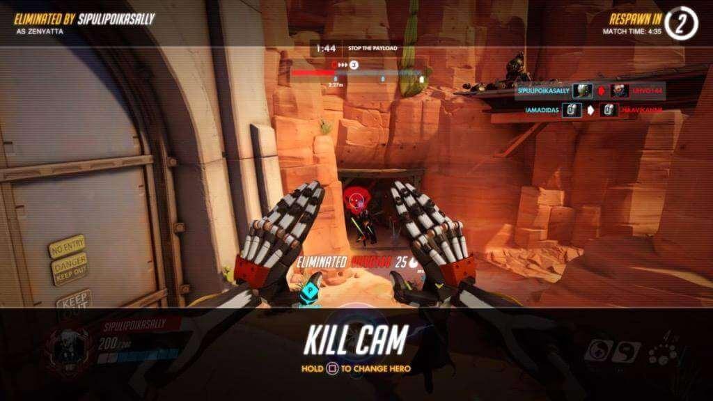 Overwatch Kill Cam