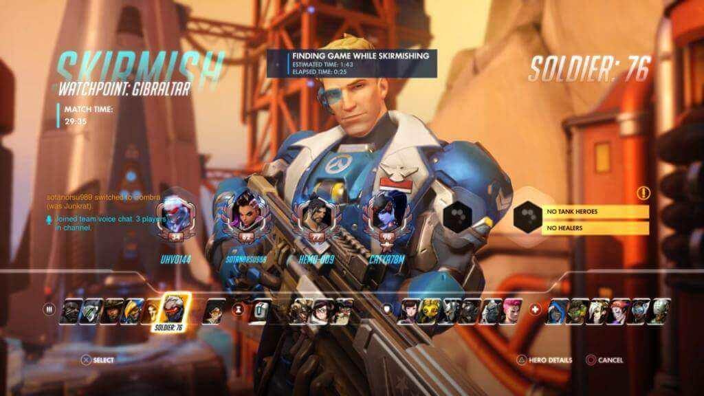 Overwatch skirmish with Soldier 76