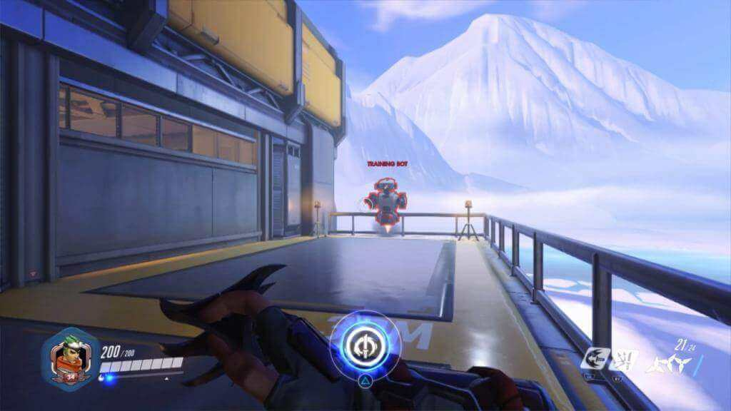 A training bot in Overwatch