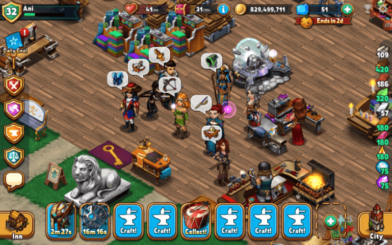 A screenshot from Shop Heroes