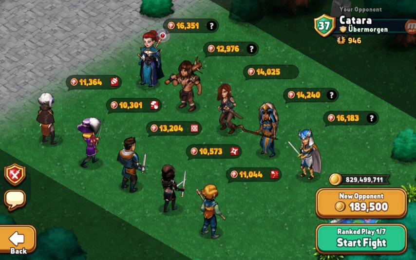 Shop Heroes combat