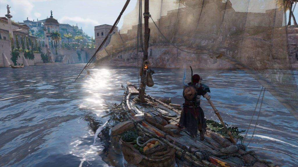 Assassin Creed Origins gameplay: Bayek riding boats