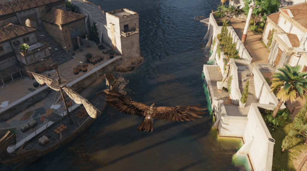 Assassin Creed Origins gameplay: Senu on the sky