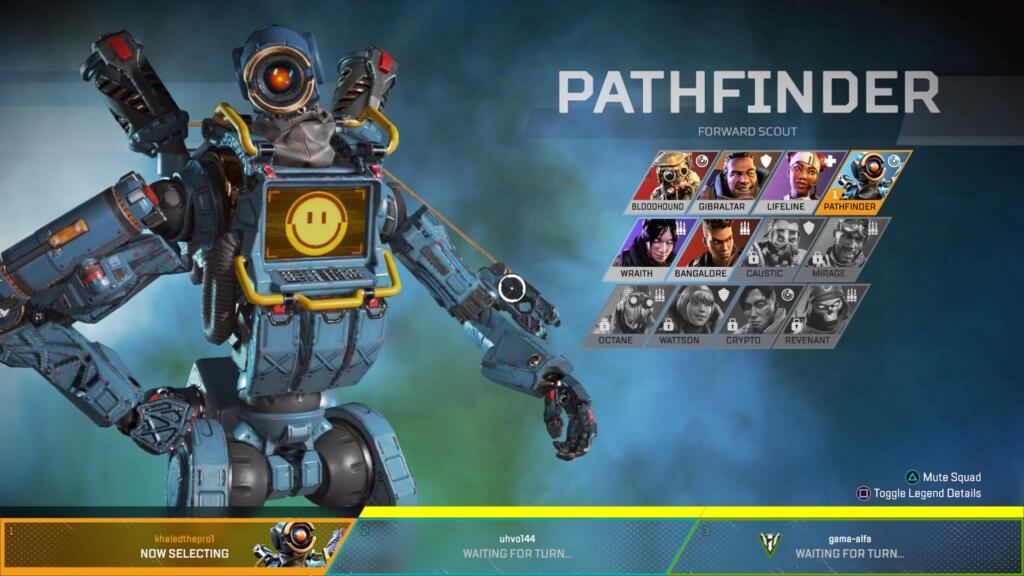 Apex Legends character selection