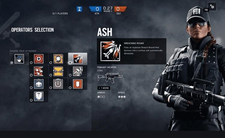 Ash rainbow six siege