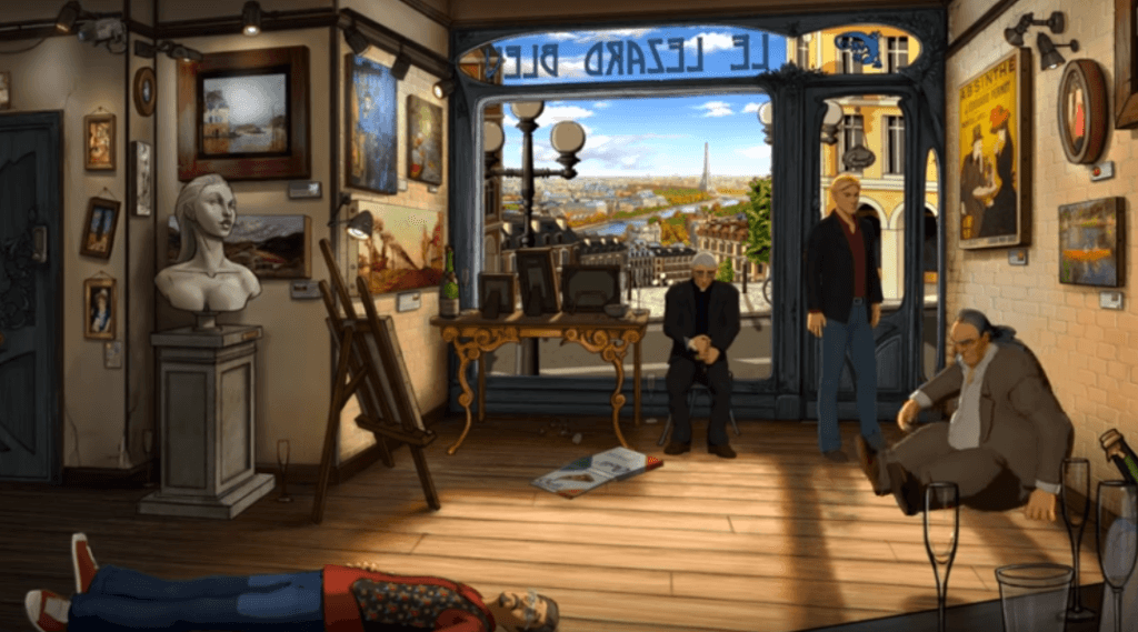 Broken Sword 5: The Serpent from Curse gameplay brain video game