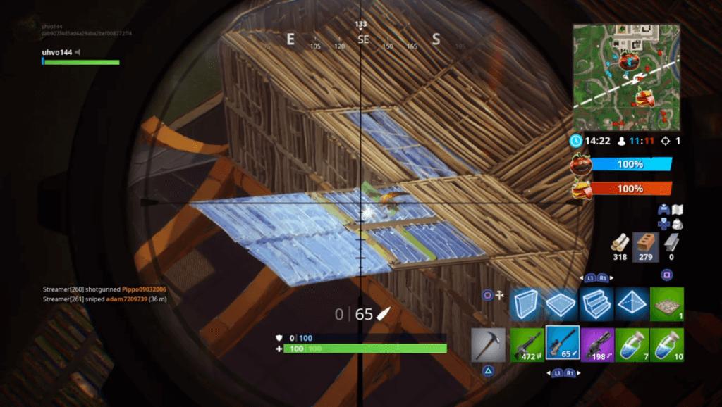 Fortnite gameplay zoom in