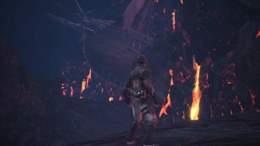 Monster Hunter: World gameplay: Running away from fire