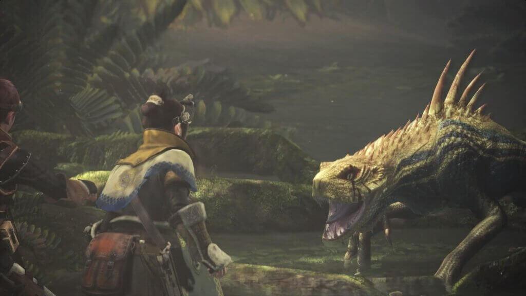 Monster Hunter: World facing the monster