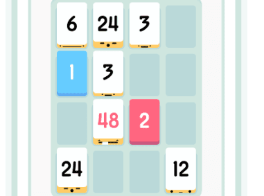 Threes mobile brain game