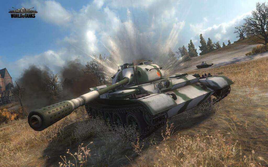 World of Tanks gameplay.
