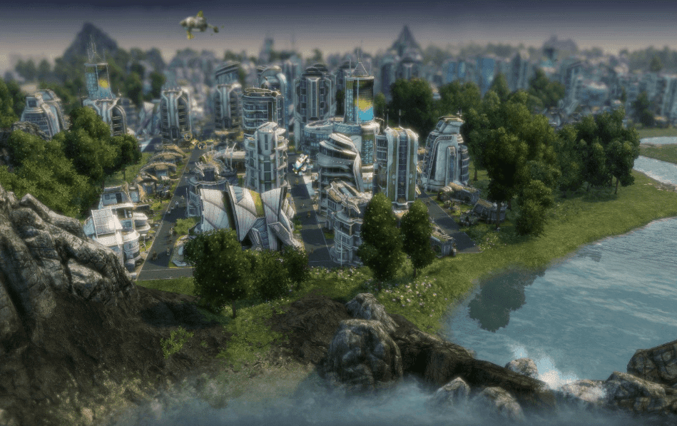 anno 2070 future city building game
