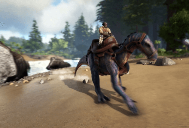ARK: Survival Evolved riding dinosaur