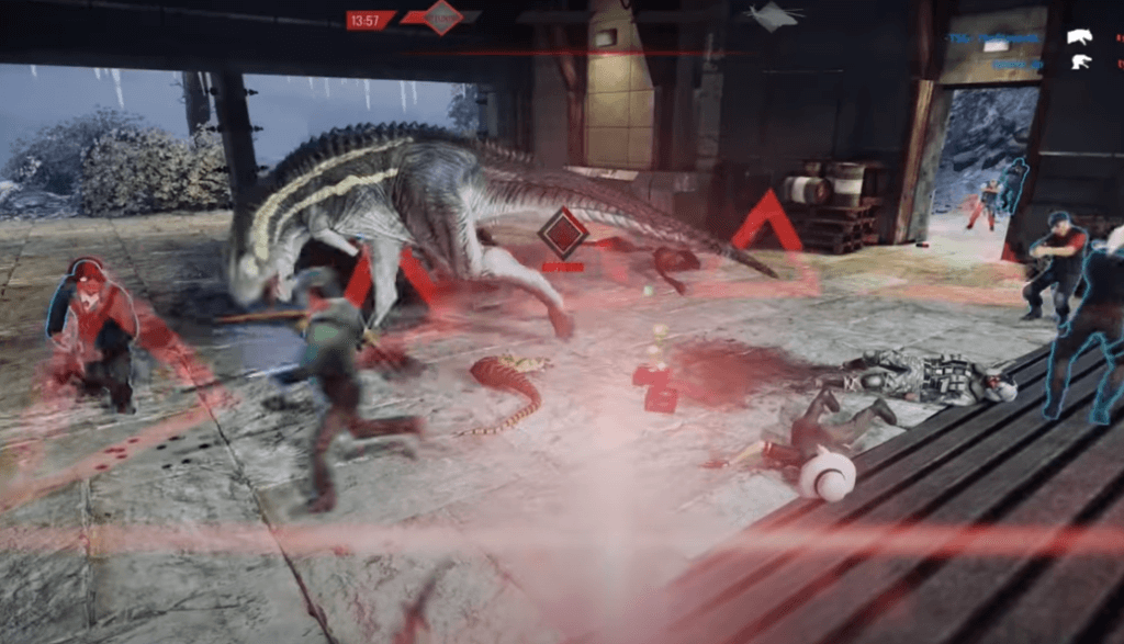 Primal Carnage: Extinction gameplay one of the best video games with dinosaurs on PS4