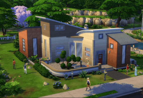 a house in the sims 4