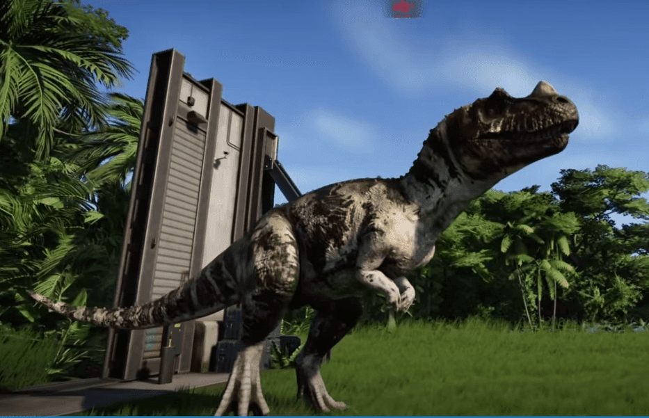 Jurassic Park Evolution screenshot - a video game with dinosaur on PS4