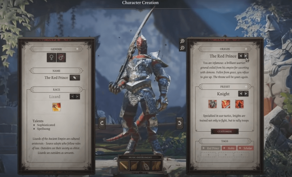 Divinity: Original Sin 2 creating character phase pc games