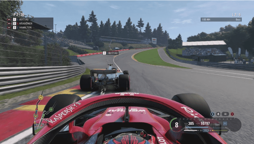 F1 2018 racing gameplay on ps4