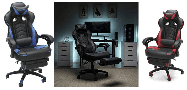 footrest gaming chairs respawn 110