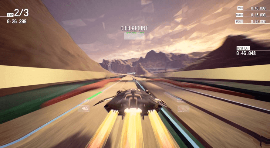 Redout speedy racing gameplay on ps4