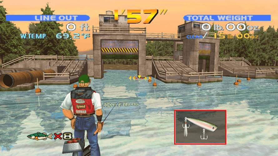 SEGA bass fishing gameplay pc