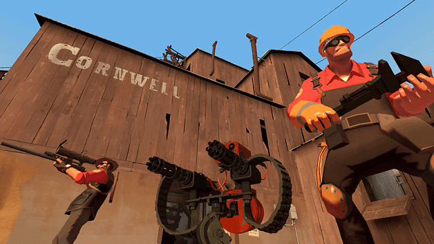 Team Fortress 2 free shooting game on PC