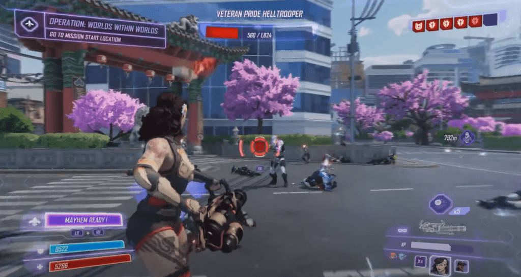 Agents of Mayhem has great graphics for an xbox one game