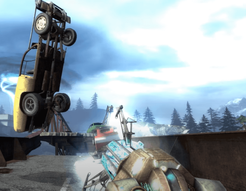 Cool weapon 6: Blue Gravity Gun - Half Life 2