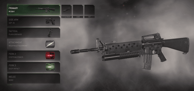 Cool weapon 1: The M16A4 with Grenade Launcher – Call of Duty 4: Modern Warfare