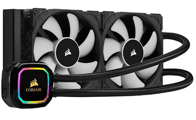 corsair h100i pro cpu cooler for games streaming