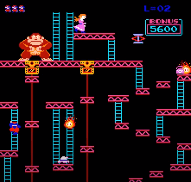Donkey Kong is the best retro platform games