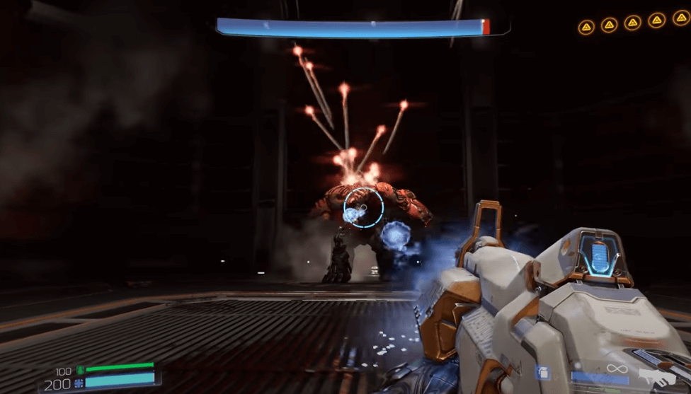 DOOM offers fast-paced combats with mind-blowing gun power and straightforward melee style.