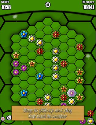 Hexbee gameplay - an Candy Crush alternative