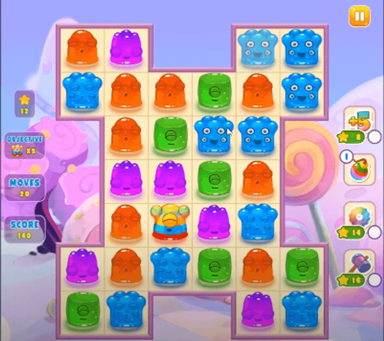 Jelly Splash Match is a similar game to Candy Crush, just with jellys!