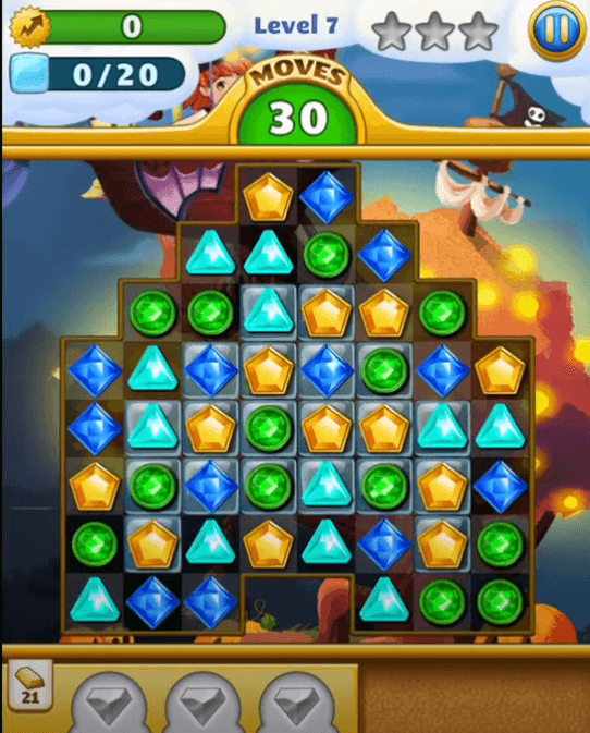Jewel Mania a game like candy crush