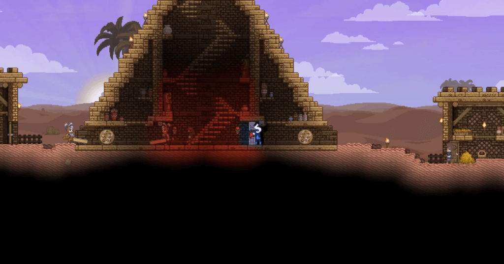 Starbound is also a 2D graphical game like Minecraft