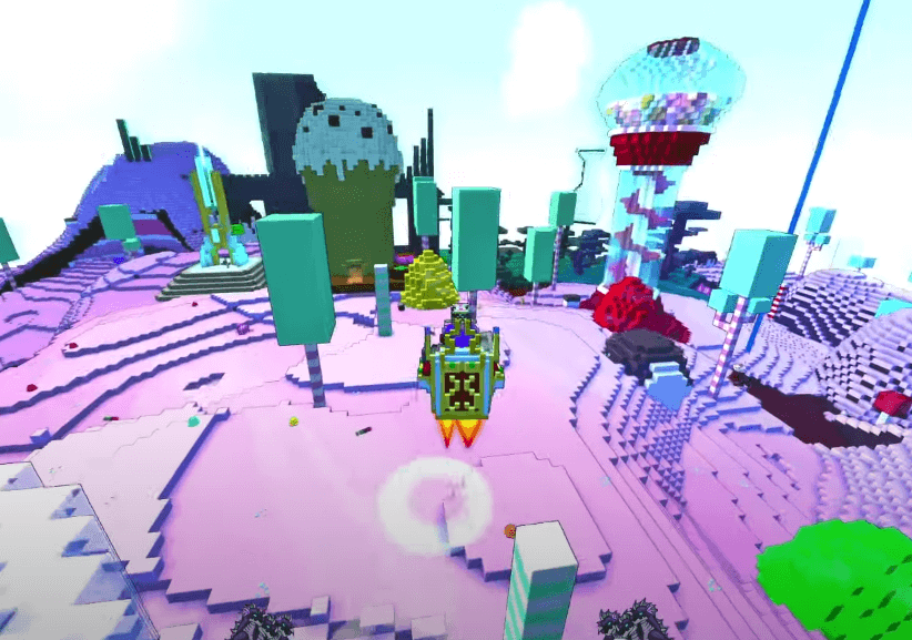 The world of Trove looks quite similar to Minecraft
