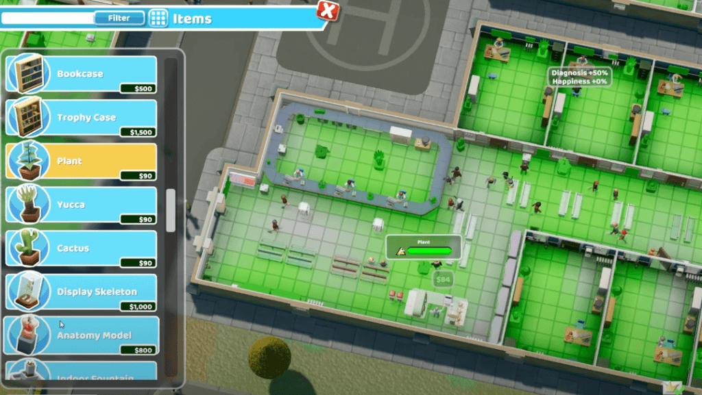 Two Point Hospital - a similar games to The Sims