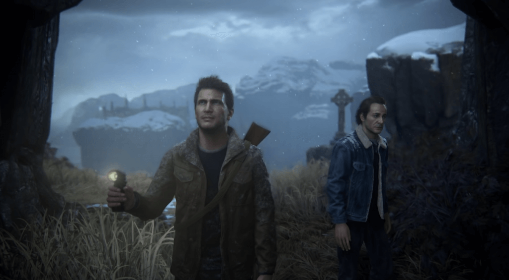 Uncharted 4: A Thief's End adventure gameplay on ps4