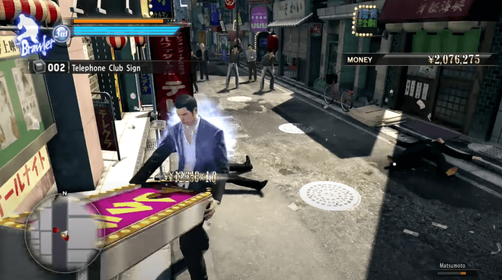 Yakuza 0 gameplay
