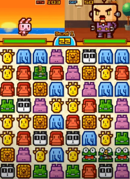 Zookeeper Battle use animals puzzle instead of candies like in Candy Crush