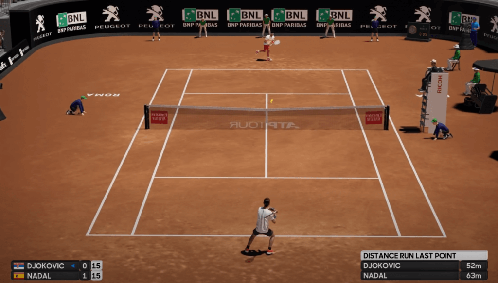 AO International Tennis gameplay for PS4